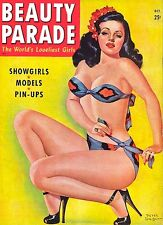 Vintage Beauty Parade Mag cover pinup pin-up October 1947 sexy girl lingerie