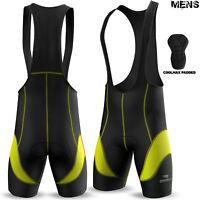 Mens Cycling Bib Shorts Tights Cycle Bicycle Anti-Bac Coolmax Padded All Sizes