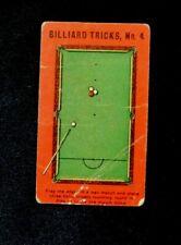 Rare Orig.1907 Sniders and Abraham Cigarette Tobacco Card Billiard Tricks # 4