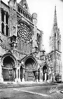 BR48732 la facade nord et le clocher neuf la cathedrale de chartres      France