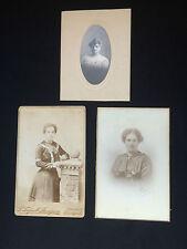 Two Antique Carte De Visite & One Antique Photograph (2)