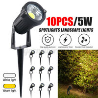 10pcs LED Low Voltage Landscape Wram Light Garden Outdoor Spotlight Waterproof