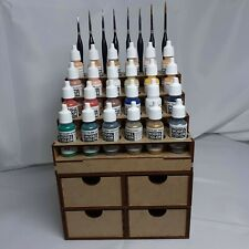 Etagere peintures Vallejo paints 4 Tiroirs Vallejo Paint Rack 4 Drawers Army