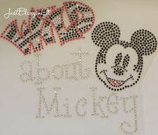 Wild About Mickey Hot Fix Iron On Rhinestone Transfer Bling MADE IN USA