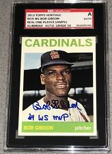 Bob Gibson WS MVP signed 2013 Topps Heritage Real One Player Sample SGC 10 Auto