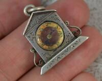 1897 Victorian Solid Silver Compass Fob Pendant