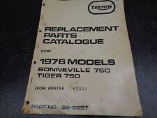 1976 Triumph Tiger Bonneville 750 Parts Catalogue Manual 1005