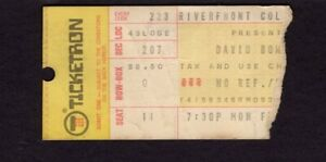 1976 David Bowie Concert Ticket Stub Isolar Tour Riverfront Coliseum Cincinnati