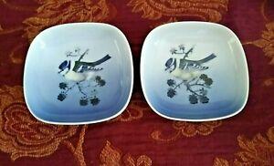 Royal Copenhagen Pair of Blue Tit Pin Dishes 4859
