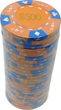 Poker Chips (25) $500 Tri-Gold 14 g Clay Composite FREE SHIPPING *