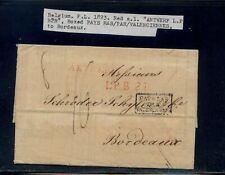 Belgium folded letter to France 1823