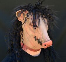 Halloween Jigsaw Pig Head Mask Wrong Turn Costume Party Mask