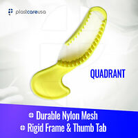 Dental Impression Bite Registration Triple Trays, Quadrant, (Yellow) (Box of 35)