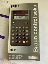 Braun Taschenrechmer ETS 77 Calculator Solar