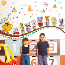 Funny Train Musical Wall Decal Removable Stickers Kids Baby Nursery Room Bedroom