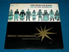 "Sesac : THE GRAIL SINGERS ""One World In Song"" LP vinyl : N-551/552 @ World FOLK"
