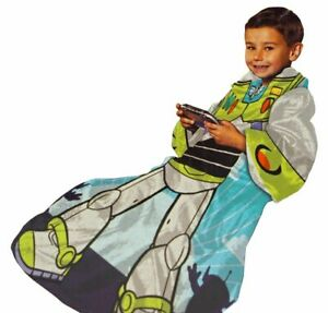 Toy Story Buzz Lightyear Real Hero Comfy Throw - The Blanket with Sleeves - New