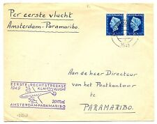 NETHERLANDS 1949  SPEC FC TO SURINAME - PARAMARIBO    F/VF