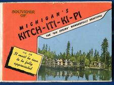 Kitch-iti-ki-pi Michigan mi booklet brochure travel souvenir folder