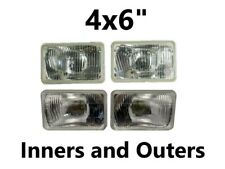 MAZDA T4000 T4600 Truck Lights Headlights Hi/Lo Beam Outers and Hi Beam Inners