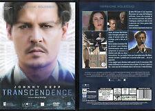 TRANSCENDENCE - DVD (USATO EX RENTAL) JOHNNY DEEP