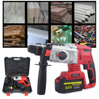 800W Electric Rotary Demolition Jack Hammer Impact Drill Concrete Breaker New
