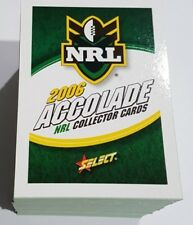 2006 SELECT NRL RUGBY LEAGUE ACCOLADE SERIES FULL SET 152 CARDS