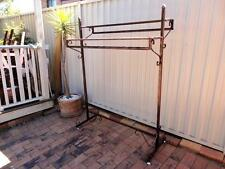 Strong Quality Iron Clothing Rack Two Shelves Rails Stand Home Shop DRS018-CPR
