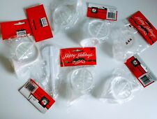 Vintage Set of 7 Instrument Ornaments Classic Hard Plastic clear white violin