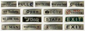 Self Adhesive Aluminium Door Sign Warning Sticker FOR Home & Office PEEL & STICK