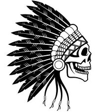 Indian Skull Chief Car Decal Sticker