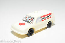 PLASTIC RENAULT PEUGEOT MERCEDES AMBULANCE CAR EXCELLENT CONDITION