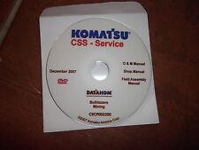 Komatsu Mining Bulldozers Servizio Negozio Manuale di Riparazione CD