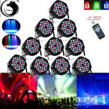 10-20PCS 108W PAR DJ Stage Effect Lighting 36 LED RGB DMX Party Club Disco Light