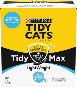 Purina Tidy Cats Light Weight Glade Clear Spring Scent Clumping Cat Litter 17Lb