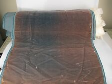 Antique velvet fabric France Victorian cotton silk Faded teal