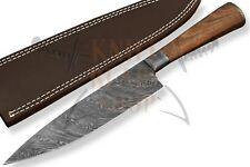 Custom Damascus steel BLADE KITCHEN KNIFE/CHEF KNIFE ROSE WOOD HANDLE