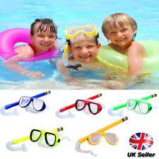 Kids Diving Mask Snorkel Set Anti Fog Goggles Swimming Dry Tube Snorkeling Mask