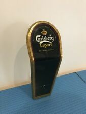 Vintage Carlsberg Export Lager Bar Advertising Topper Mancave Display, Pub, Pump