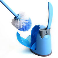 Toilet Brush Set Cleaning Brush Home Bathroom 2pcs L/S Brushes With Holder