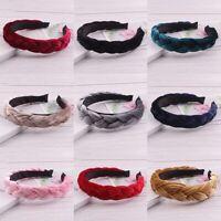 Frauen Samt Stirnband Twist Haarband geflochten Knoten Krawatte Haarband Zubxjx2