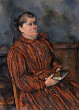 Portrait of a Woman by Paul Cézanne 60cm x 43cm Art Paper Print