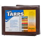 10'x12' Brown Super Heavy Duty Waterproof Poly Tarp - ATV Woodpile Roof Cover