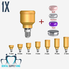 X 1 Locator Abutment Set Dental Implant Overdenture Ball Attachment Silicon Caps