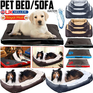 Pet Dog Bed Mattress Waterproof Deluxe Cat Cushion Fur Washable Pillow Mat Sofa