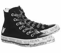 Womens Converse X Miley Cyrus CTAS Hi Canvas 162234C Black/White Multi Sizes NWB