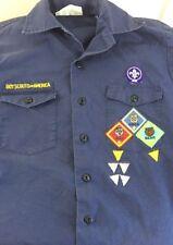 Boy Scouts Cub Scout Uniform Shirt Youth Large Official Blue Short Sleeve