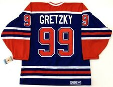 "WAYNE GRETZKY EDMONTON OILERS CCM VINTAGE JERSEY WITH ""C"" NEW WITH TAGS"