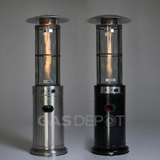 Glow Warm 15kw Gas Patio Heater - Black or Stainless Steel Edition