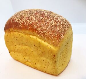 "Faux Fake Bread Loaf Replica Food Display Artificial Prop 7''x4"" Pretend"